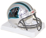 Cam Newton Autographed Carolina Panthers Mini Helmet (Steiner COA)