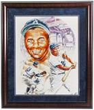 Roy Campanella Autographed & Framed Brooklyn Dodgers Lithograph