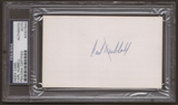 Carl Hubbell Autograph (Index Card) PSA/DNA Certified *7944