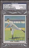 1941 Playball Reprint Carl Hubbell Autographed Card PSA Slabbed (4933)