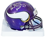 Carl Eller Autographed Minnesota Vikings Mini Football Helmet with HOF 04 inscrip