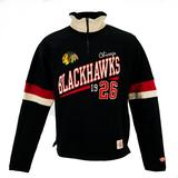 Chicago Blackhawks Old Time Hockey Christopher Black Quarter Zip Fleece (Adult XL)