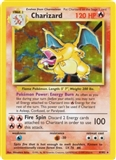 Pokemon Base Set 1 Single Charizard 4/102 - HEAVY PLAY (HP)