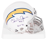 "Charlie Joiner Autographed San Diego Chargers Mini Helmet w/""HOF 96"" Inscription (JSA)"