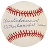"Charlie Gehringer Autographed Official MLB Baseball w/""The Mechanical Man"" Insc. (PSA)"