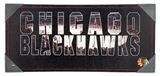 Artissimo Chicago Blackhawks Wordmark Team Pride 12x26 Canvas