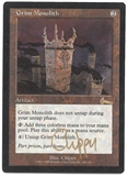 Magic the Gathering Urza's Legacy Single Grim Monolith SLIGHT PLAY - ARTIST SIGNED