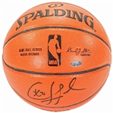 Chris Paul Autographed Official Spalding NBA Basketball (Steiner)