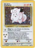 Pokemon Base Set 1 Single Clefairy 5/102 - LIGHT PLAY