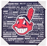 Cleveland Indians Artissimo Typography 13x13 Canvas