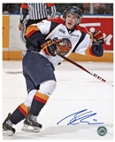 Connor McDavid Autographed Erie Otters white jersey 8x10 Hockey Photo (AJ's COA)