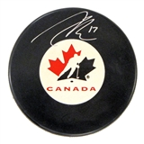 Connor McDavid Autographed Team Canada Hockey Puck (AJ's COA)