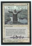 Magic the Gathering Beta Artist Proof Consecrate Land - SIGNED BY JEFF A. MENGES