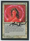 Magic the Gathering Beta Artist Proof Circle of Protection: Red - SIGNED BY MARK TEDIN