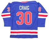 Jim Craig Autographed Team USA Miracle On Ice Jersey (JSA)