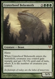 Magic the Gathering Avacyn Restored Single Craterhoof Behemoth FOIL - MODERATE PLAY (MP)