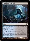 Magic the Gathering Worldwake Single Creeping Tar Pit - SLIGHT PLAY (SP)