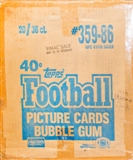 1986 Topps Football Wax 20-Box Case