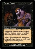 Magic the Gathering Invasion Single Cursed Flesh FOIL