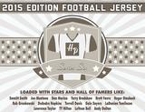 2015 Hit Parade Autographed Football Jersey Hobby Box - Series 6