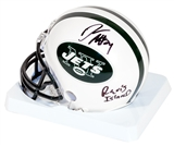 "Darrelle Revis Autographed New York Jets Mini Helmet w/ ""Revis Island"" Inscription (PSA)"