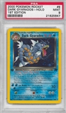 Pokemon Team Rocket 1st Edition Single Dark Gyarados 8/82 - PSA 9 - *21625647*