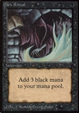 Magic the Gathering Beta Single Dark Ritual - MODERATE PLAY (MP)