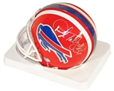 Darryl Talley Autographed Buffalo Bills Throwback Mini Football Helmet