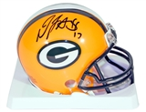 Davante Adams Autographed Green Bay Packers Mini Helmet (Legends of The Field)