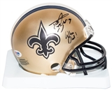 "Drew Brees Autographed New Orleans Saints Mini Helmet w/""Who Dat"" Inscription (PSA)"