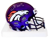 Terrell Davis Autographed Denver Broncos Limited Edition Chrome Mini Helmet (JSA)