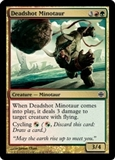 Magic the Gathering Alara Reborn Single Deadshot Minotaur FOIL