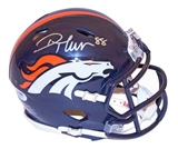 Demaryius Thomas Autographed Denver Broncos Speed Mini Helmet (PSA)