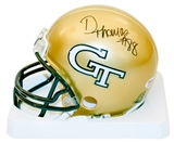 Demaryius Thomas Autographed Georgia Tech Yellow Jackets Mini Helmet (PSA)