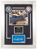 "Derek Jeter Autographed New York Yankees ""The Dive"" Yankees Stadium Wall (Steiner)"