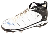Derek Jeter Autographed TWICE!! New York Yankees Game Model Nike Cleat (Steiner & MLB)