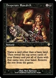 Magic the Gathering Invasion Single Desperate Research UNPLAYED (NM/MT)