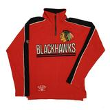 Chicago Blackhawks Old Time Hockey Conor Red 1/4 Zip Crewneck Fleece (Adult S)
