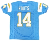Dan Fouts Autographed San Diego Chargers Powder Blue Jersey w/HOF'93 Inscription (PSA)