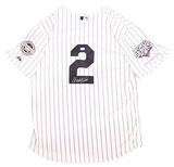 Derek Jeter Autographed New York Yankees Russell Athletic Home Jersey (JSA)