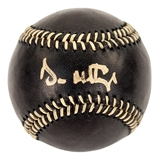 Don Mattingly Autographed New York Yankees MLB Black Baseball (PSA)