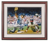 Don Mattingly Autographed NY Yankees Framed 16X20 (Double Matted) Photo (JSA)