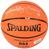 Julius Erving (Dr. J) Autographed NBA Spalding Basketball (UDA Sticker)