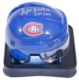 Denis Savard Autographed Montreal Canadiens Hockey Mini Helmet (AJs COA)