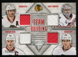 2013-14 Panini Titanium Team Building Quad Jerseys Duncan Keith Crawford Jonathan Toews Patrick Kane 70/100