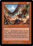 Magic the Gathering Apocalypse Single Dwarven Landslide Foil