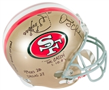 "Dwight Clark Autographed San Francisco 49ers ""The Catch"" Diagramed Full Size Helmet *PSA"