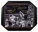 "Dwight Clark Autographed San Francisco 49ers ""The Catch"" 16x20 Framed Photo (PSA)"