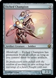 Magic the Gathering Scars of Mirrodin Single Etched Champion - MODERATE PLAY (MP)