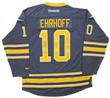 Christian Ehrhoff Autographed Buffalo Sabres Blue Hockey Jersey
